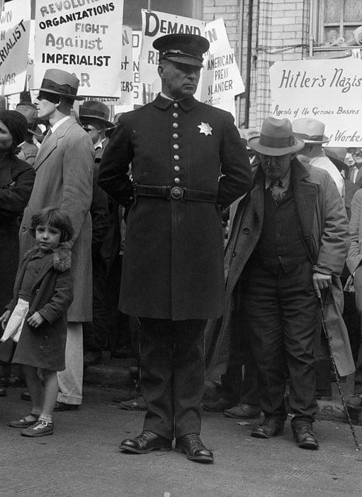Street meeting. San Francisco, California. August 1936.
