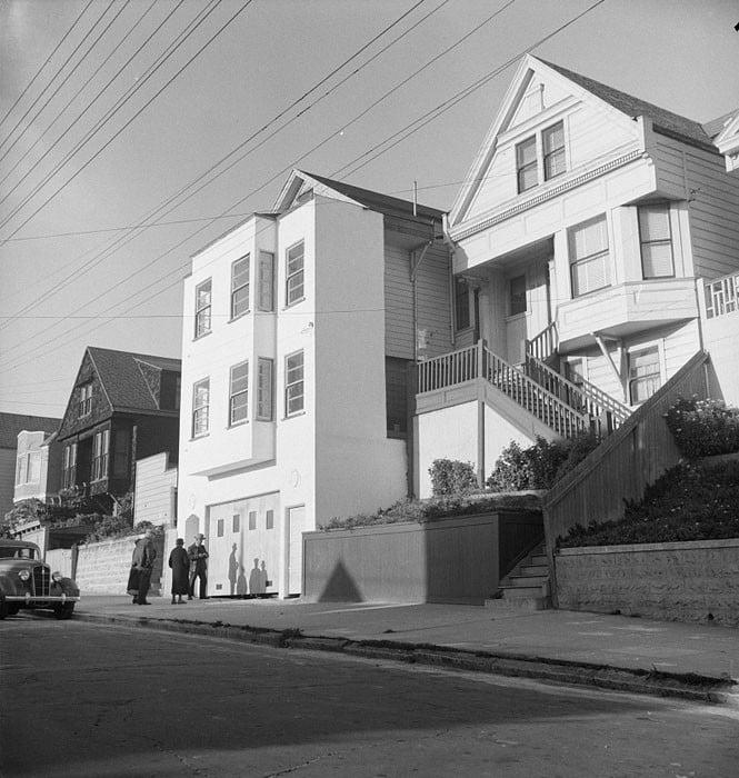 Architecture in the Potrero district. San Francisco, California. April 1939.