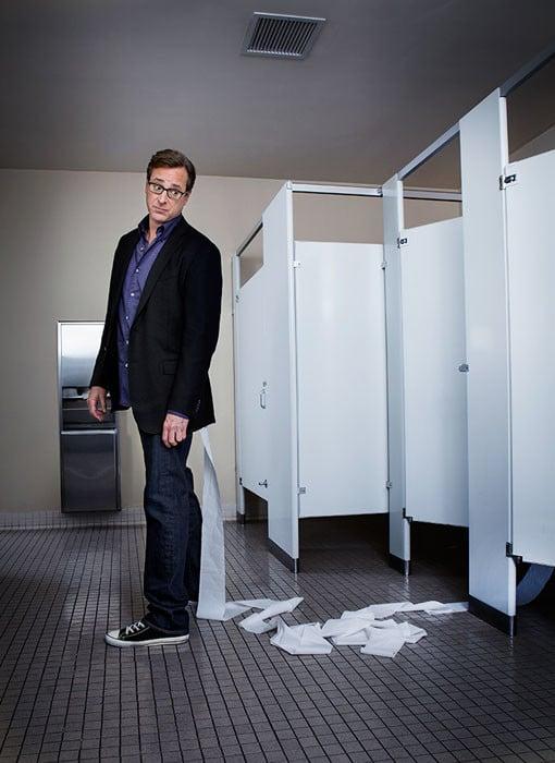 "Bob Saget from Brasington's ""Comedians in Public Bathrooms"" series"