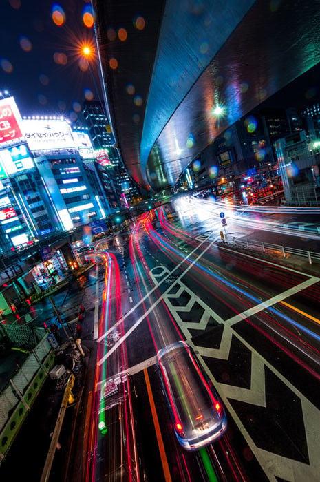 DSC_150420_211242 city. long exposure. night. rain. shibuya. (Vanishing Point) (ps) (composite)-X2