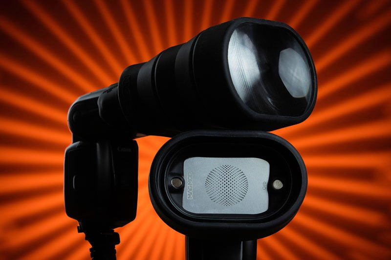 MagBeam is a 2-in-1 Flash Extender and Gobo Projector