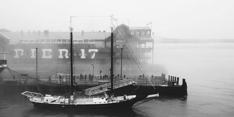 Pier 17 swarmed by eager instagrammers in the morning fog