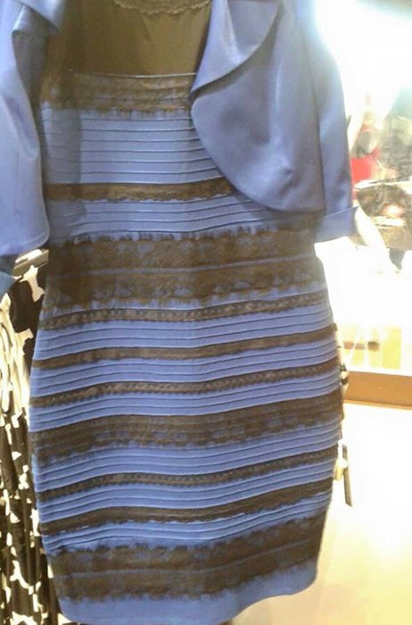 Is this dress black and blue or white and gold?