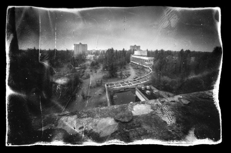 pripyat - view from hotel Polesie's balcony