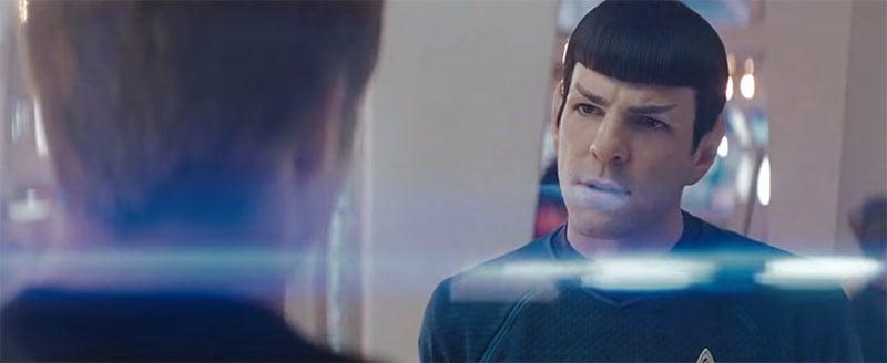 A still frame from J.J. Abrams' 2009 movie Star Trek.