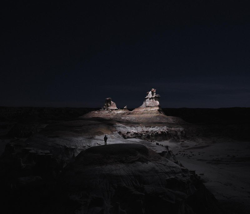 This Photographer Lit Landscapes at Night Using LEDs on Drones