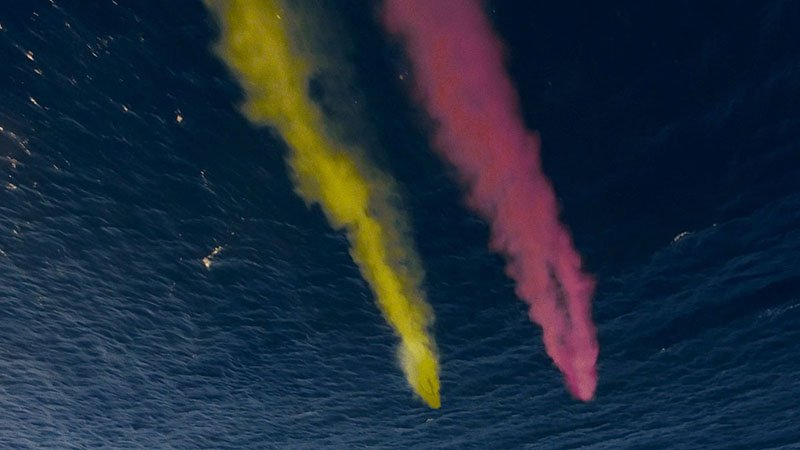Painting The Sky With Camera Drones And Smoke Grenades - Attaching colourful smoke to drones has spectacular results