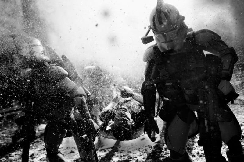 US Marine Photographer Recreates Battle Scenes with Stormtrooper Toys