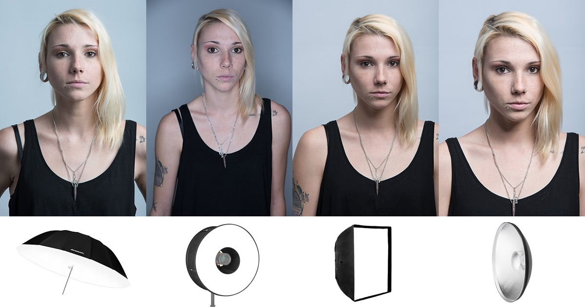 Makeup Ring And Lights: This Is What Different Light Modifiers Do For Studio Portraits