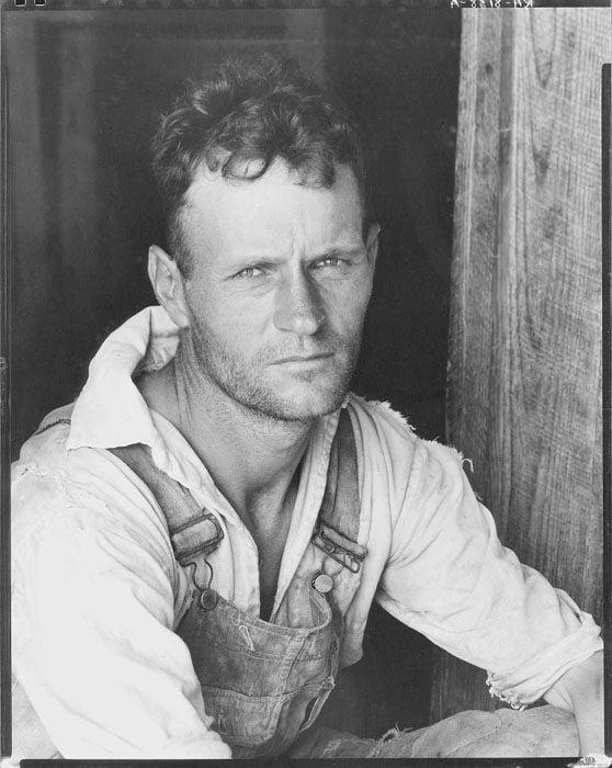 Floyd Burroughs, cotton sharecropper. Hale County, Alabama. 1935.