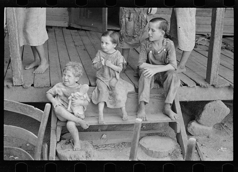 Tengle children, Hale County, Alabama. 1936.