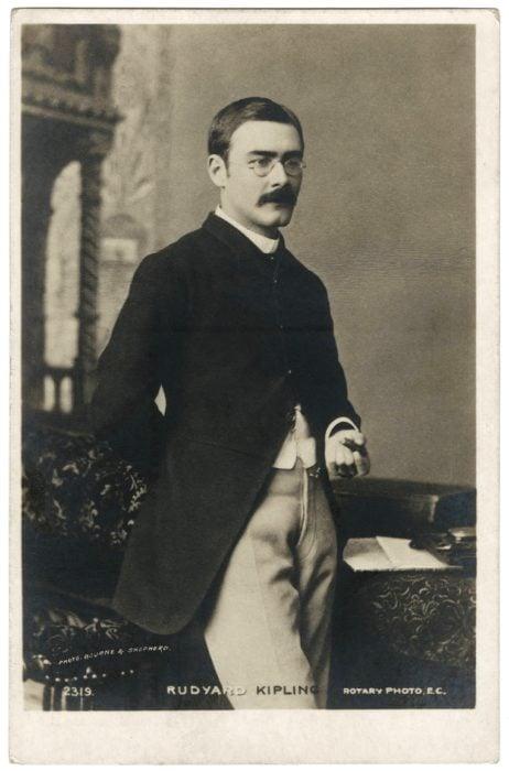 A portrait of author Rudyard Kipling. Image via Wikipedia.