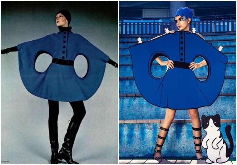 Pierre Cardin space age fashion, 1960s