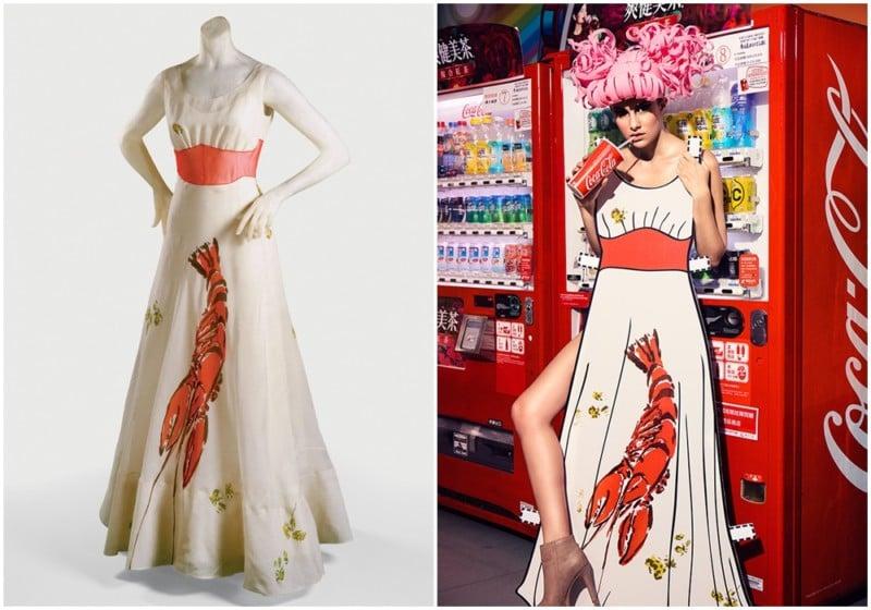 Elsa Schiaparelli Lobster Dress, 1937