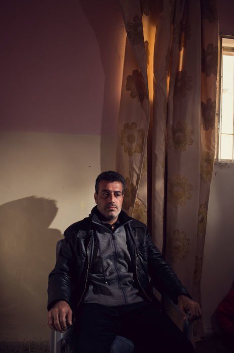 Portrait of a Syrian refugee in Jordan. My minimal gear setup allows me set up and tear down quickly.
