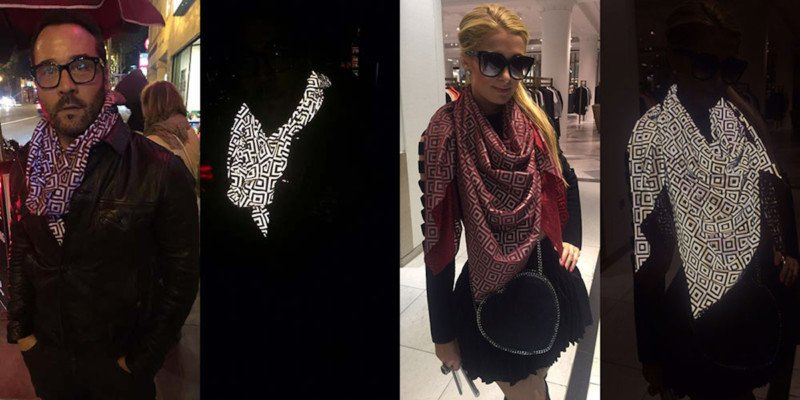 This Anti-Paparazzi Scarf Makes Flash Photography Impossible