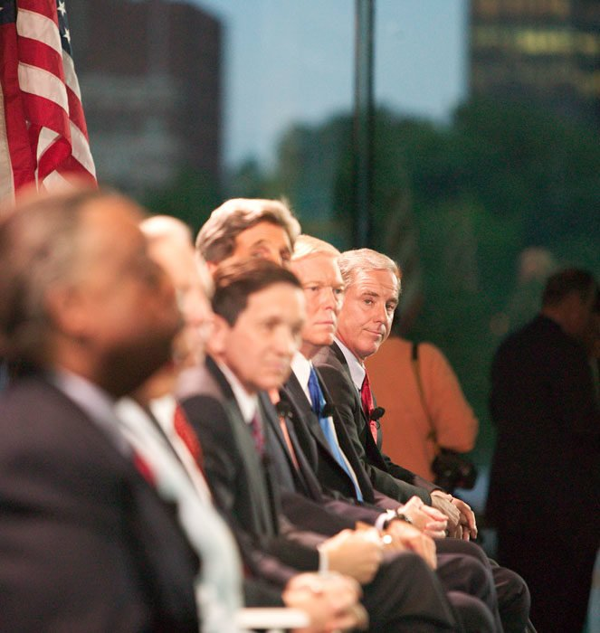 8/11/2003. Seven of the nine Democratic candidates attend a forum in the Constitution Center in Philadelphia