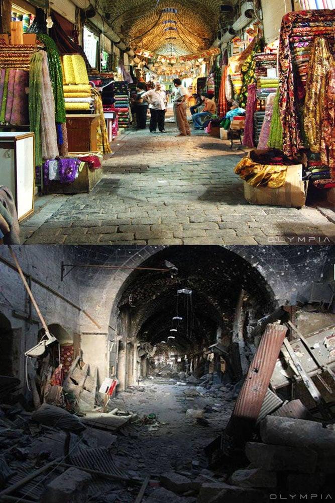 Suriah sebelum dan setelah perang berlangsung