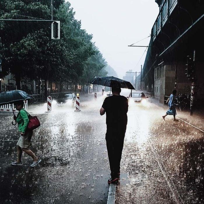 Me and my umbrella. Photo © Uwa Scholz