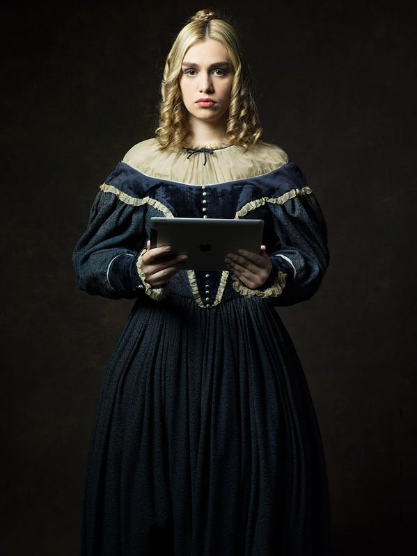 Portraits of 19th-Century Characters with 21st-Century Gadgets
