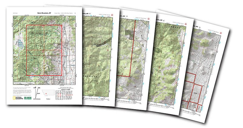 Nat Geo Launched A Free Website For Printing Detailed - Us Digital Topographic Maps