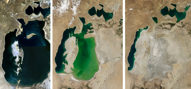 These Photos Show How One of the World's Largest Lakes Disappeared