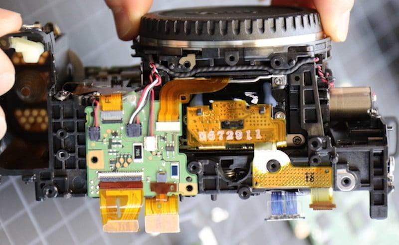 Bottom of camera minus tripod plate