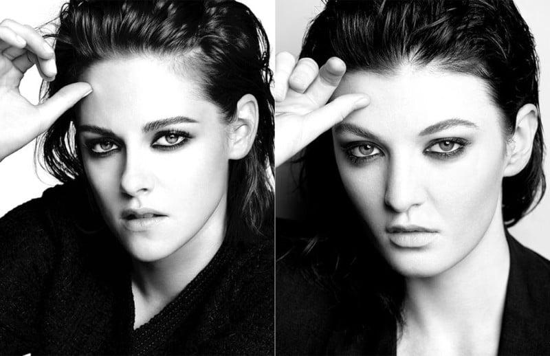 Recreating a Beauty Shot of Actress Kristen Stewart Captured for Chanel
