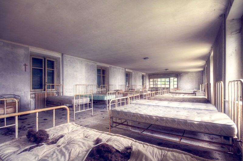 An abandoned children's hospital.
