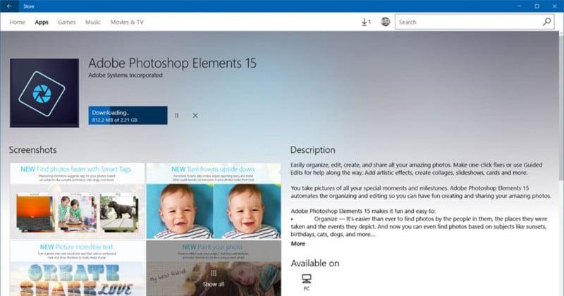 Adobe Photoshop Elements 15 Hits the Windows Store