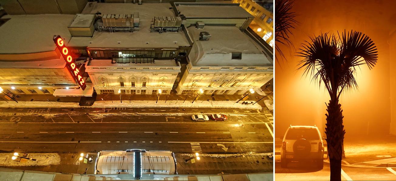 Automatic white balance settings in HPS lighting. Left: 2984K/-1 tint, Right: 3887K/+1 tint