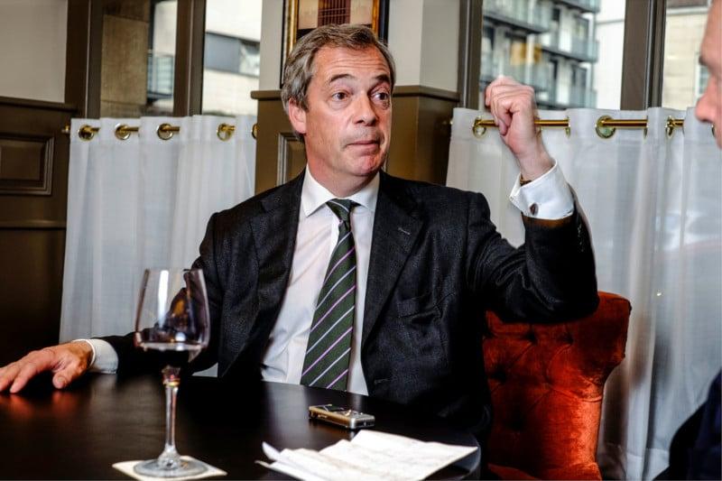 Lunch with Nigel Farage Fuji X-Pro2