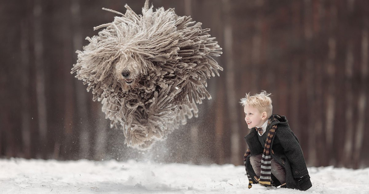 Heartwarming Photos of Little Kids and Their Big Dogs