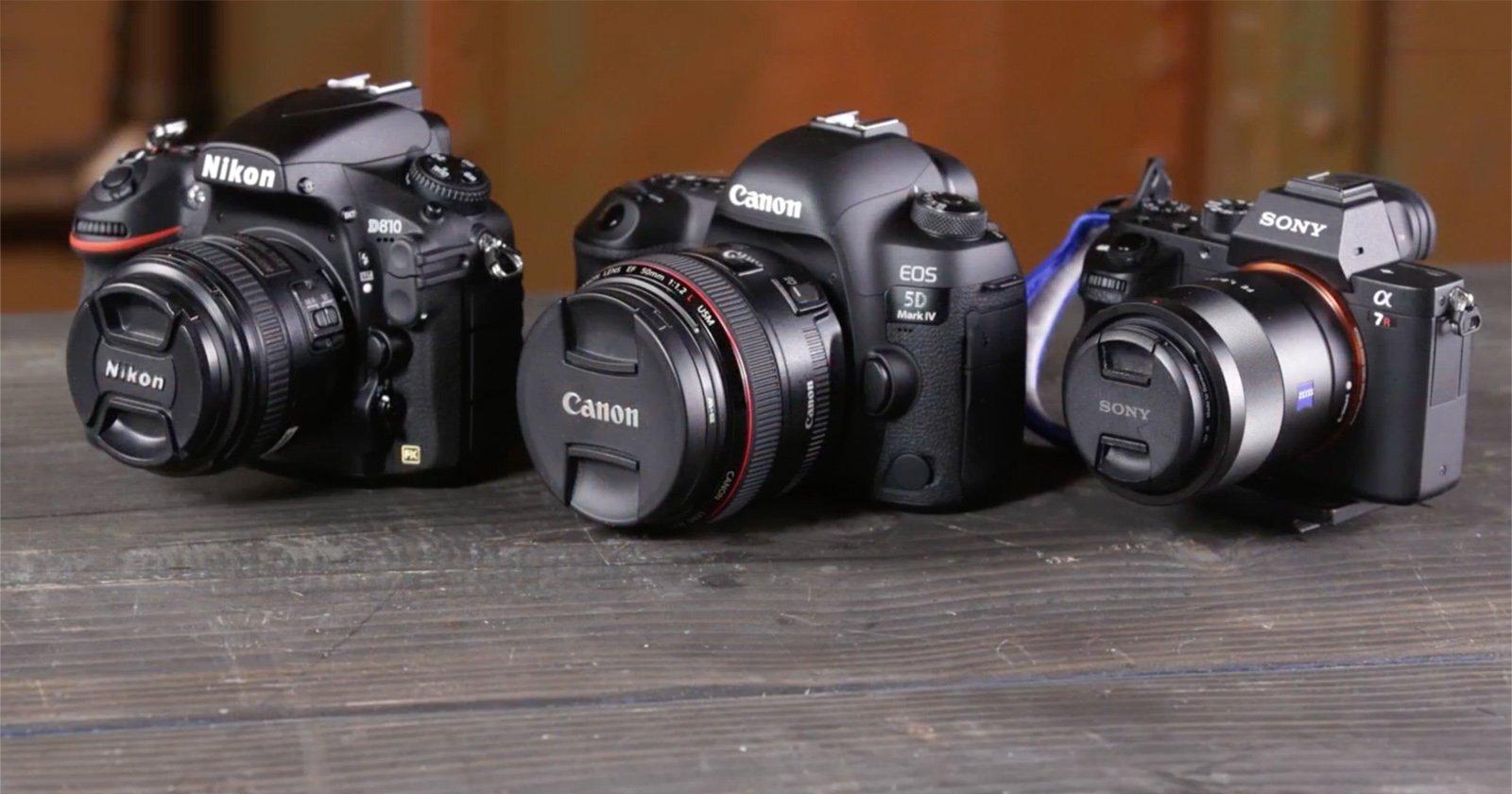 Canon 5D Mark IV Vs Nikon D810 Sony A7R II Side By Comparison