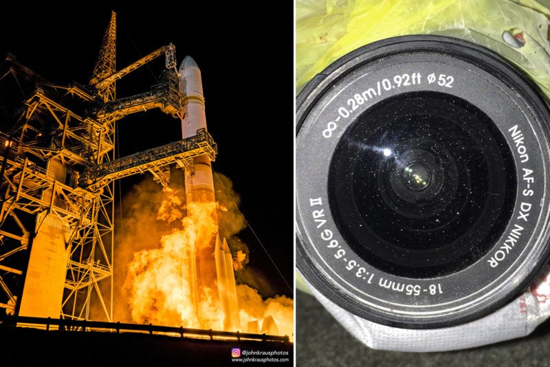 Rocket Camera : This is what a rocket launch does to a camera 45 yards away