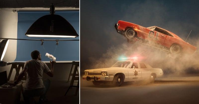 Photog Recreates Dukes of Hazzard Scene Using Model Cars and Dust
