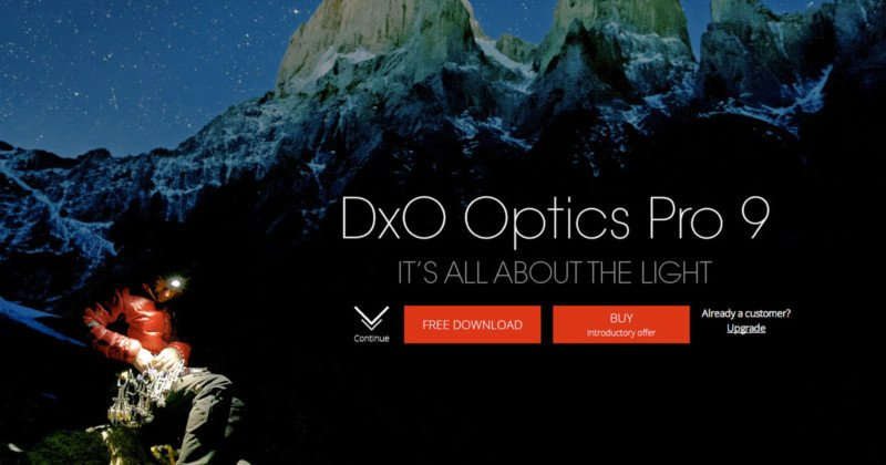 You Can Get a Copy of DxO OpticsPro 9 Completely Free for a Limited Time