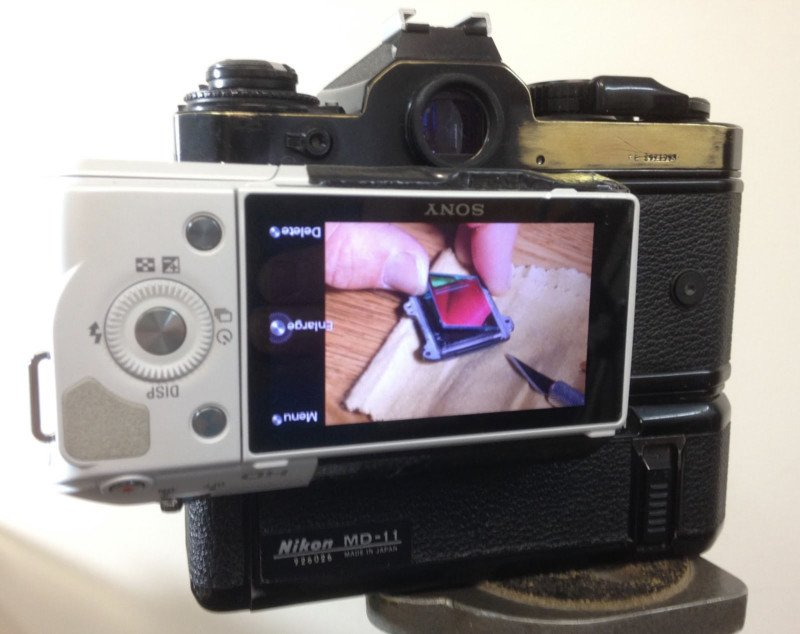 This Guy Turned a Sony Camera Into a Digital Back for His Nikon Film SLR
