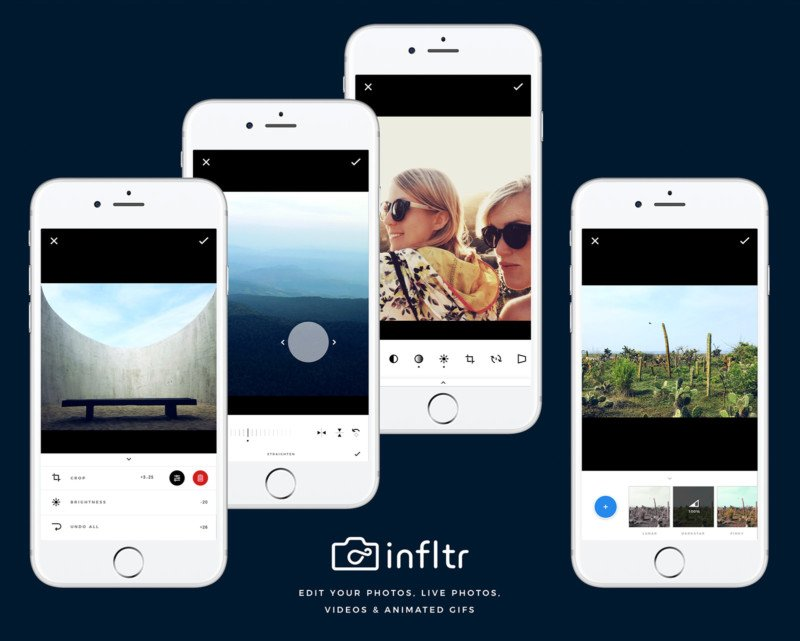 infltr the first iphone app to edit photos live photos videos