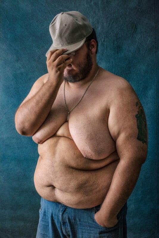 Naked skinny round hairy