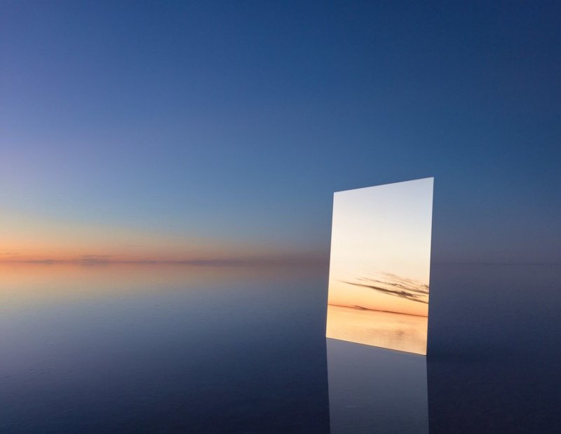 This Photographer Put a Giant Mirror In a Salt Flat