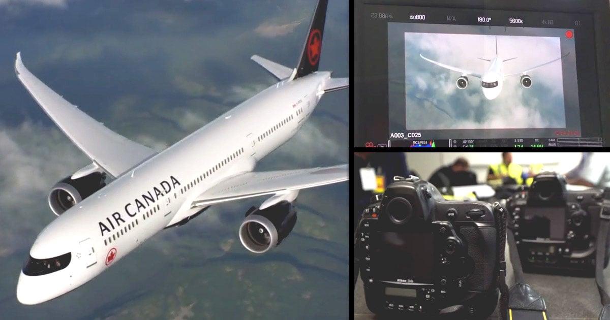 Watch an Air-to-Air Photo Shoot of a 787 Dreamliner