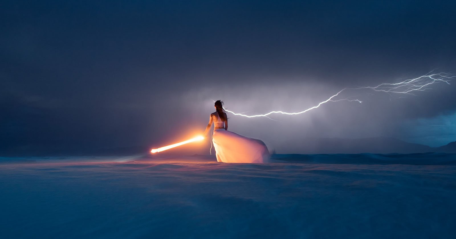 My Model Triggered a Lightning Self-Portrait, And She Nailed It