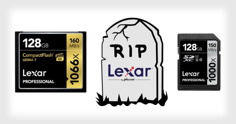 R.I.P. Lexar Memory Cards
