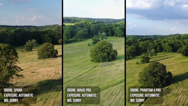 DJI Drone Cameras Compared: Spark, Mavic, and Phantom