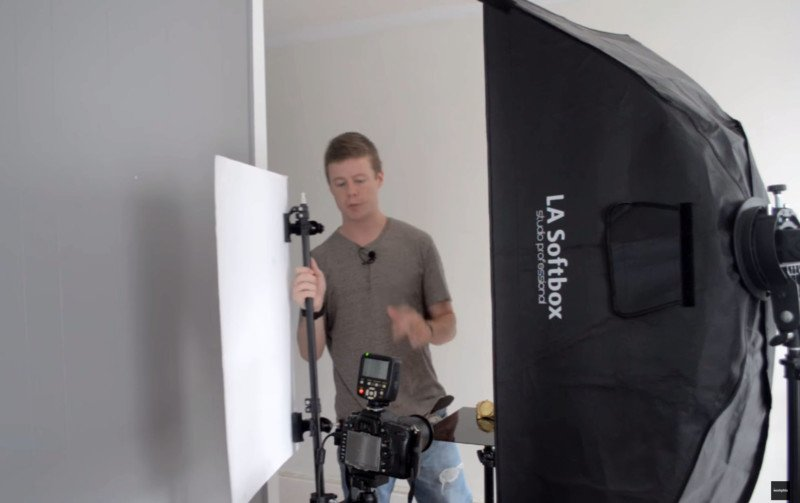 how photograph watches studio speedlights stripbox