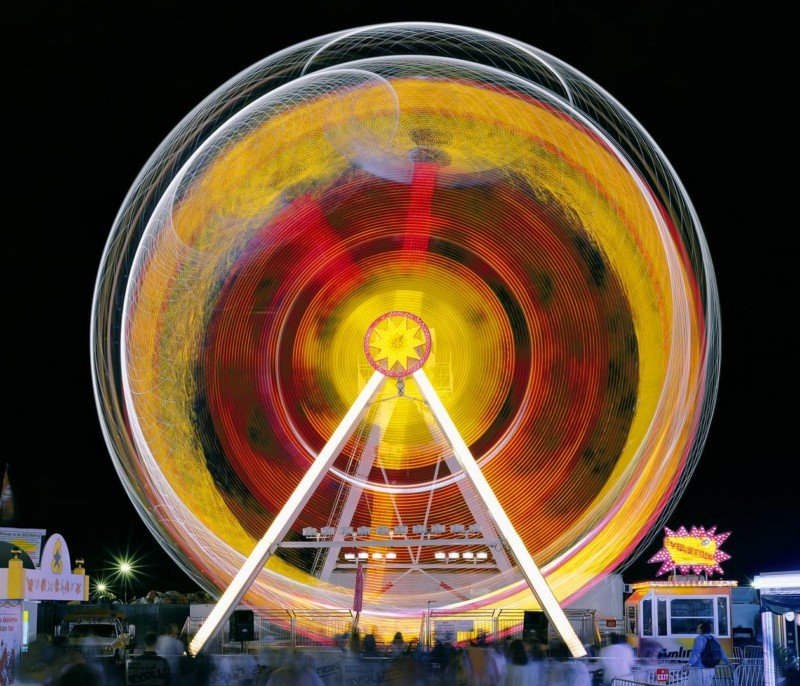 Long-Exposure Photos of Carnival Rides Over the Decades