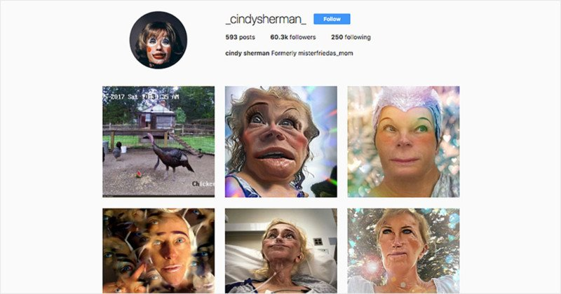 Photographer Cindy Sherman is on Instagram Now