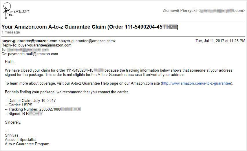 Amazon tracking number