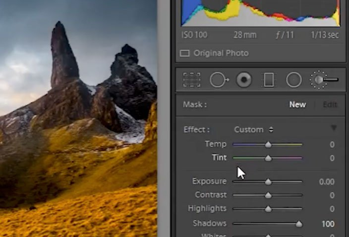 How to Dramatically Shape the Light of a Landscape Photo in Lightroom